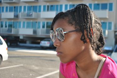 Girl in Shades and Braids by SummerTymeBlues