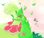 Sceptile and Meganium by RebelliousTreecko