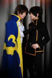 Suzaku and Lelouch by ToraCosplayers