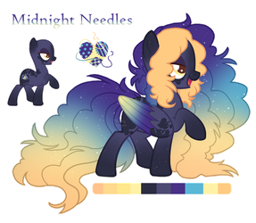 Midnight Needles, a very peculiar pegasus by Points-for-Fritty
