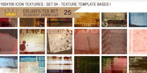 Icon Textures Set 04 - Texture Template Bases I by colorfilter