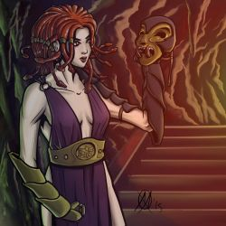 Greek Myths - Medusa (color) by Coyotzin