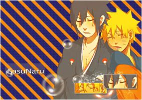 SasuNaru Sleeping by ceejsradx3