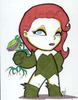 Chibi-Poison Ivy. by hedbonstudios