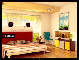 3d Bed Room by saltshaker911