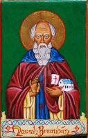 Icon of St. Brendan by angelboi-red