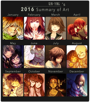 Qin's 2016 Summary Of Art by Qin-Ying