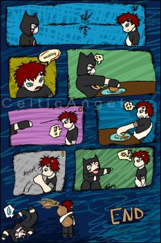 Kankuro Gaara Food Fight by celticangel