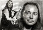Dave Murray - IRON MAIDEN by akaLilith