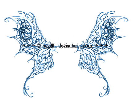 butterfly wings.concept tattoo by ang3ll