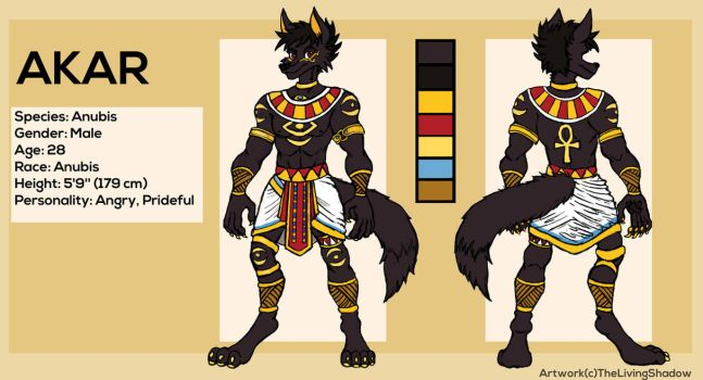 Akar - Ref Sheet by TheLivingShadow