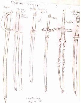 Sword Set, Traditional 2 by Adris