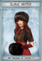 Art nouveau 11 - Slavic winter by crayonmaniac