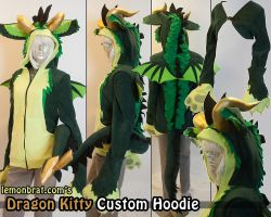 Dragon Kitty Custom Hoodie by lemonbrat