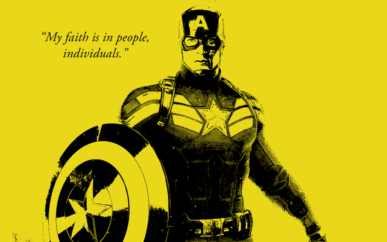 Captain America Libertarian Wallpaper by IroniaWhite