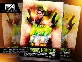 Toxic Night Party Flyer PSD Template by pawlowskiart