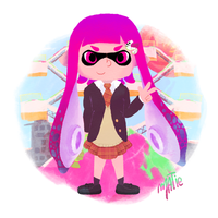 Inkling Girl ~ Splatoon by HarajukuNoMatie
