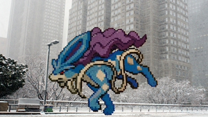 Pokemon #17 - Suicune (background) by MagicPearls