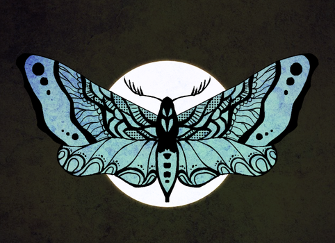 Day 13 - Moth by Ainaredien