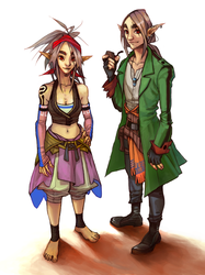 isobel and curio by vi0letswirl