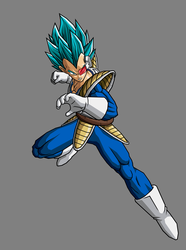Vegeta SSGSS, Old Saiyan Armor by hsvhrt
