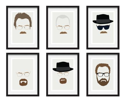 Walter White / Heisenberg Breaking Bad Faces by Posteritty