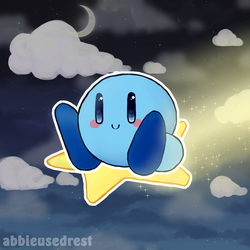 Commission - Blue Kirby! by AbbieUsedRest