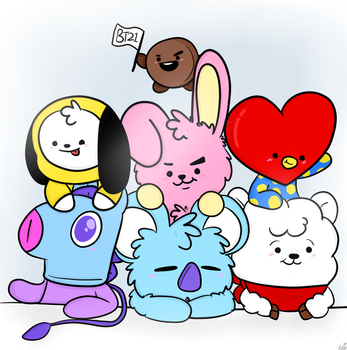BT21 bois by JovialTrees
