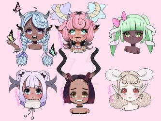 Cute Faces 1 by Tokyo-Dollie