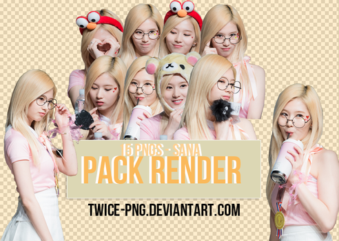 [PACK RENDER #06] Sana (TWICE) by TWICE-PNG