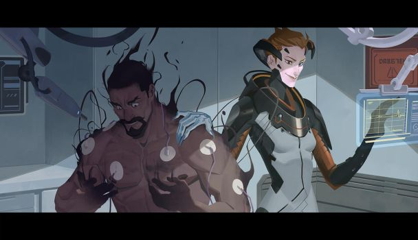 OW Moira Origin Story part 3/5 by Nesskain