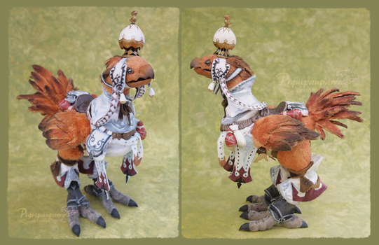 Chocobo XIV - Art doll by Piquipauparro