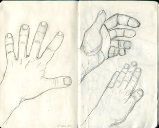 ArtBuddy exercise - Hands 02 - 15th March 2015 by Summitwulf