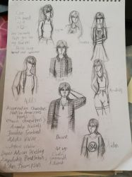 Reservation Sketch Dump (Uncoloured for Now) by xKidatashx