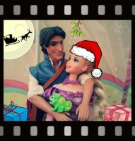 Rapunzel and Flynn Merry Christmas! by Lorinha84