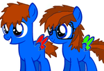Young BlueBook and BluePhoenix (brother) by BlueBookWard