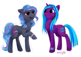 Pony Commission: Risque and Dew Drop by enigmatia