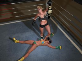 The New Brazilian Foxy Boxing Champion, Rayne! by cpunch