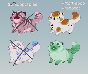 Squishy $4 adopts! 2/4 OPEN [PRICE REDUCED] by tortieboo