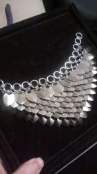 Scalemaille Necklace WIP by monsterkookies