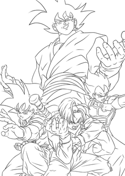 Trunks Arc Lineart WIP by Artworx88