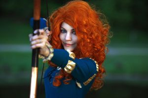 I am Merida, and I'll be shooting for my own hand! by JasDisney
