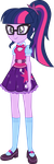 Twilight Sparkle (Sci-Twi)  EG New Oufit by kingdark0001