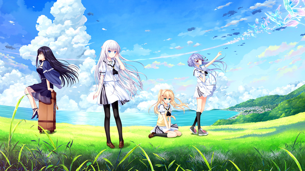 Summer Pockets Female Cast by SquallEC