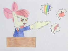 Applebloom as Phoenix Wright (Ace Attorney) by DON2602