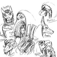 Egyptian God Sketches by YOUR-PLAGUE-DOCTOR