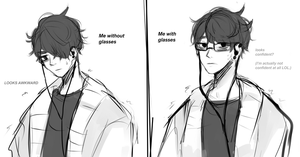 Glasses are a mask to awkwardness by Xhlxo