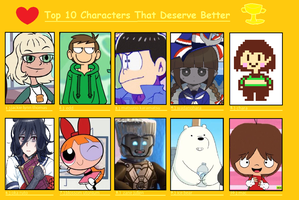 Used Meme - Top 10 Characters That Deserve Better by SweetJazzyGirl