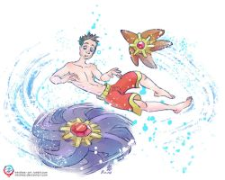 Justin's Water Pokemon - Staryu and Starmie