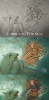 Alder and The Stag: Process by RedFleece